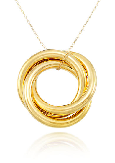 Modern Gold™ 14k Yellow Gold Circle Pendant