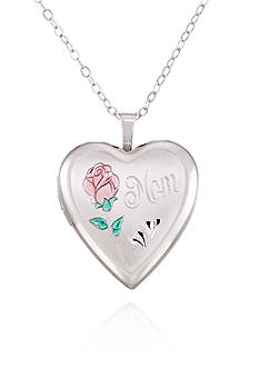 Belk & Co. Sterling Silver Mom Rose Locket