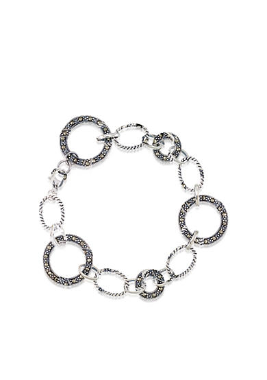 Belk & Co. Marcasite Link Bracelet in Sterling Silver