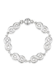 Modern Silver™ Infinity Link with Nano Diamond Resin Bracelet set in Sterling Silver