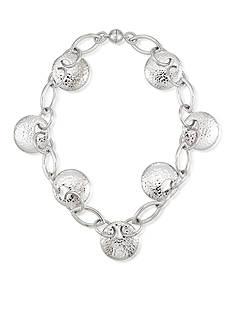 Belk & Co. Disc Link Collar Necklace Set In Sterling Silver