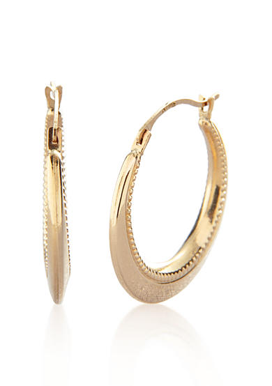 Belk & Co. 14k Yellow Gold Polished Hoops