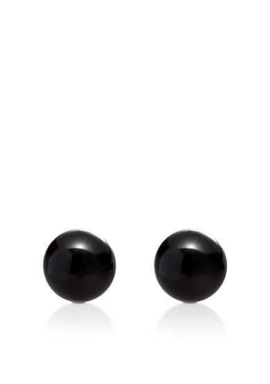Belk & Co. Onyx Stud Earrings in Yellow Gold