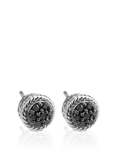 Belk & Co. Black Diamond Stud Earrings in Sterling Silver
