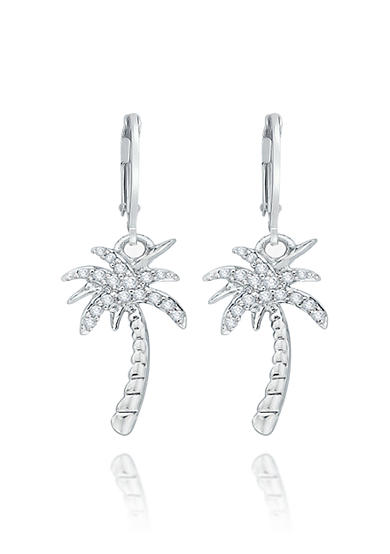 Belk & Co. Diamond Palm Tree Earrings in Sterling Silver