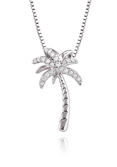 Belk & Co. Sterling Silver & Diamond Palm Tree Pendant