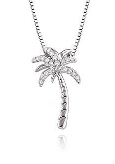 Belk & Co. Sterling Silver & Diamond Palm Tree Pendant