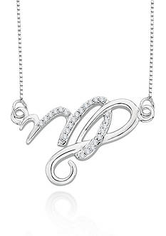 Belk & Co. Diamond Virgo Pendant in Sterling Silver