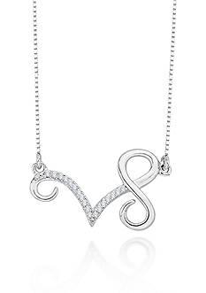 Belk & Co. Diamond Capricorn Pendant in Sterling Silver