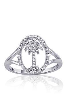 Belk & Co. Diamond Palm Tree Ring in Sterling Silver