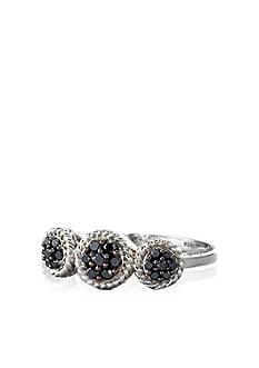 Belk & Co. Black Diamond Fashion Ring in Sterling Silver