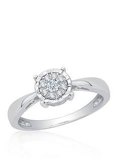 Belk & Co. Diamond Cluster Ring in Sterling Silver