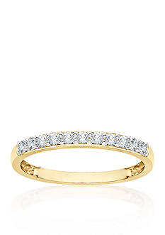 Belk & Co. 1/4 ct. t.w. Diamond Wedding Band in 14k Yellow Gold