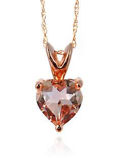 Belk & Co. 10k Rose Gold Morganite Heart Pendant