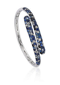 Effy Sterling Silver Multicolor Sapphire Bypass Bangle