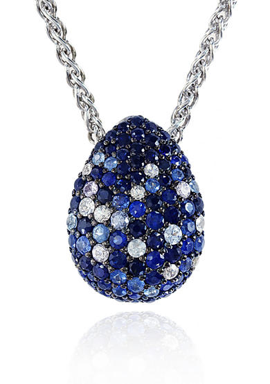 Effy® Sterling Silver Multicolor Sapphire Tear Drop Pendant