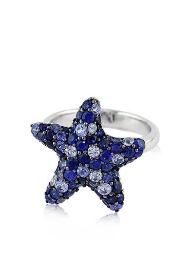 Effy® Sterling Silver Blue Sapphire Star Ring