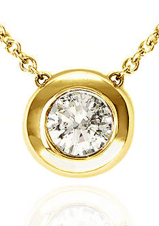 Effy Diamond Pendant in 14k Yellow Gold