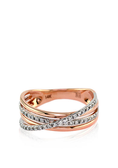 Effy® Diamond Woven Band in 14k Rose Gold