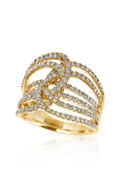Effy® Open Diamond Band in 14k Yellow Gold