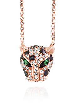 Effy Diamond and Tsavorite Panther Pendant in 14k Rose Gold