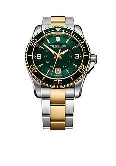 Victorinox Swiss Army Maverick Green Dial Two-Tone Bracelet Watch