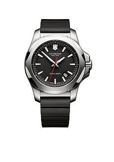 Victorinox Swiss Army Inox Black Rubber Watch