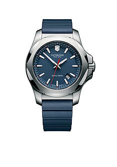 Victorinox Swiss Army Inox Blue Rubber Watch