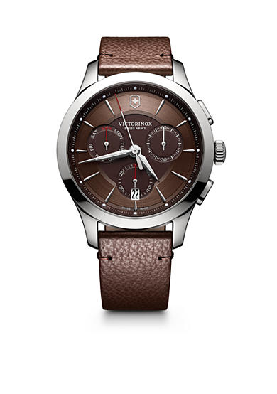 Swiss Army Alliance Chronograph Brown Dial with Brown Leather Strap