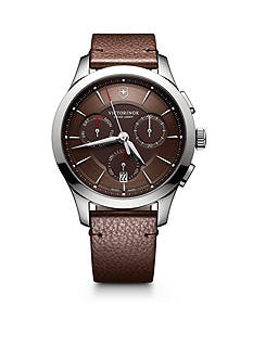 Victorinox Swiss Army, Inc. Alliance Chronograph Brown Dial with Brown Leather Strap
