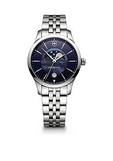 Swiss Army Women's Silver-Tone Moon Phase Alliance Watch