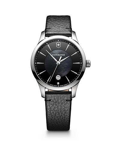 Swiss Army Women's Black and Silver-Tone Watch