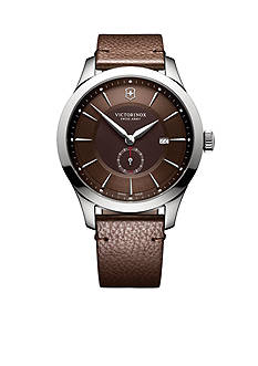 Victorinox Swiss Army, Inc. Men's Alliance Brown Leather Watch