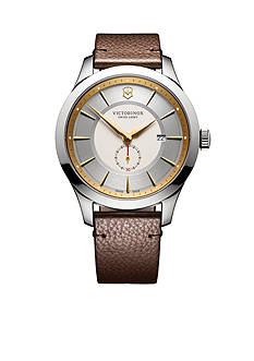 Victorinox Swiss Army, Inc. Men's Alliance Two-Tone Brown Leather Watch