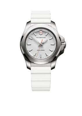Victorinox Swiss Army  Inc  Women's I.N.O.X. White Rubber Watch -  5400118241769