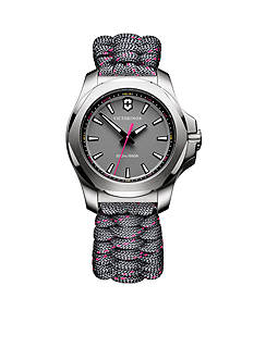 Victorinox Swiss Army, Inc. Women's I.N.O.X. Gray and Pink Paracord Watch