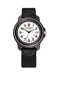Victorinox Swiss Army Original XL White Dial Black Bezel Nylon Watch