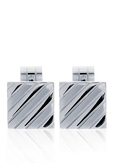Belk & Co. Mens Stainless Steel Cufflinks