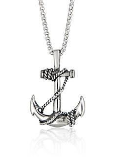 Belk & Co. Men's Stainless Steel Anchor Pendant