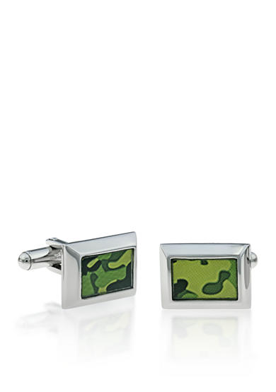 Belk & Co. Mens Stainless Steel Camouflage Cufflinks