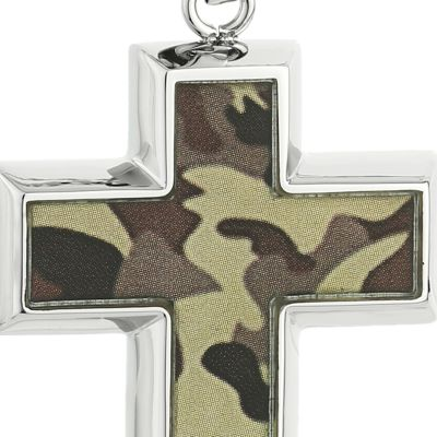 Mens Necklaces: Brown Belk & Co. Men's Stainless Steel Camouflage Cross Pendant