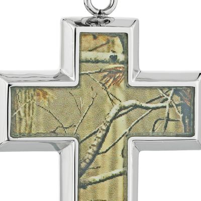 Mens Necklaces: Light Brown Belk & Co. Men's Stainless Steel Camouflage Cross Pendant