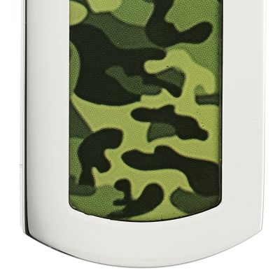 Men's Accessories: Necklaces: Green Belk & Co. Men's Stainless Steel Camouflage Dog Tag Necklace