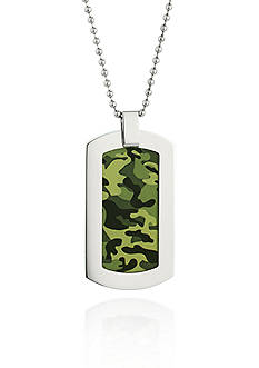 Belk & Co. Men's Stainless Steel Camouflage Dog Tag Necklace