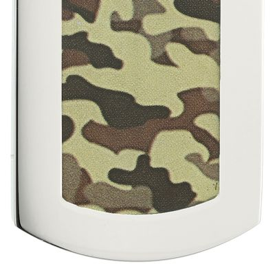 Jewelry & Watches: Belk & Co. Fine Jewelry: Brown Belk & Co. Men's Stainless Steel Camouflage Dog Tag Necklace