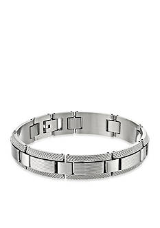 Belk & Co. Men's Stainless Steel Textured Cable Bracelet