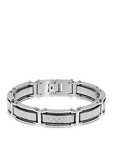 Belk & Co. Men's Stainless Steel Cable Bracelet