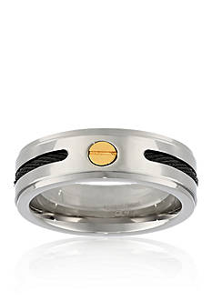 Belk & Co. Men's Stainless Steel Cable Ring