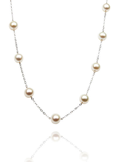 Belk & Co. 14k White Gold Freshwater Pearl Tincup 18-in. Necklace<br>