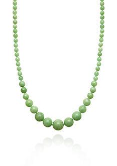 Belk & Co. 14k Yellow Gold Graduated Jade Necklace